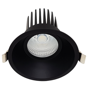 12W LED Downlight Matte Black Adapter Fascia Kit