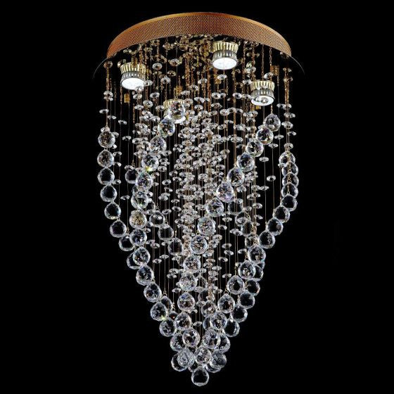 Lampada Forcollia Gold 4 Light Premium Crystal Pendant LD10101GD