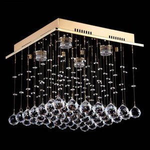 Lampada Scatola Gold 4 Light Premium Crystal CTC LD10111GD