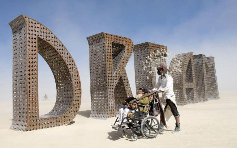 Victor Pineda at Burning Man. Interview with IMBŌDHI