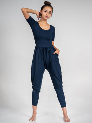 Sleeved Bōdhi Jumper, Navy Blue - IMBŌDHI