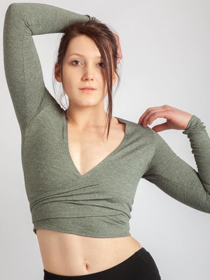 Criss Crop Wrap, Herringbone Fabric