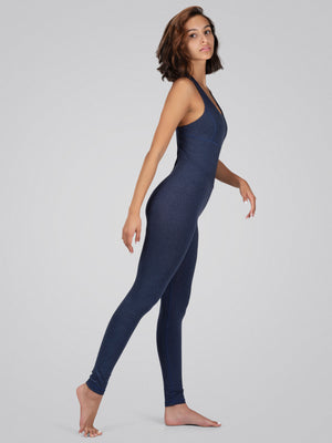 Astra Bodysuit, Heather Navy - IMBŌDHI