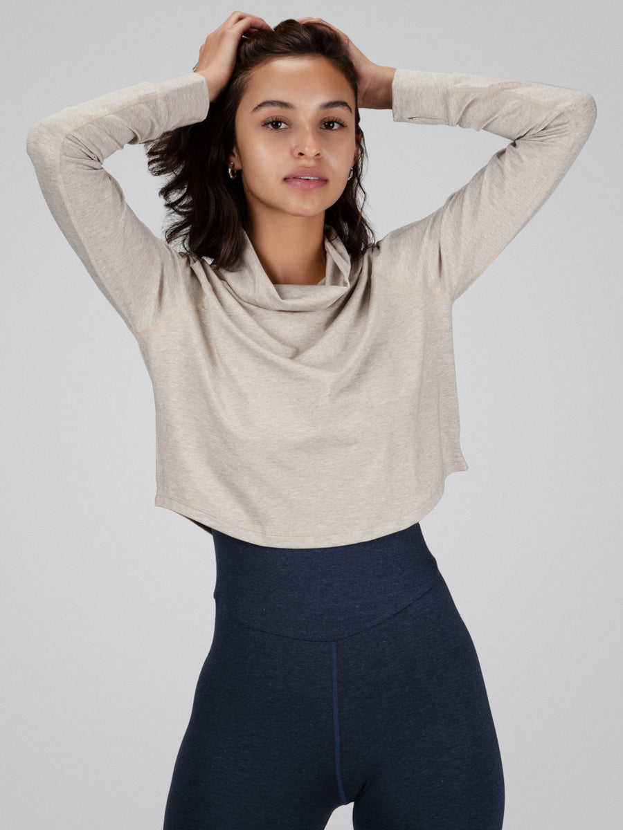 Tara Crop Sweater, Oatmeal - IMBŌDHI