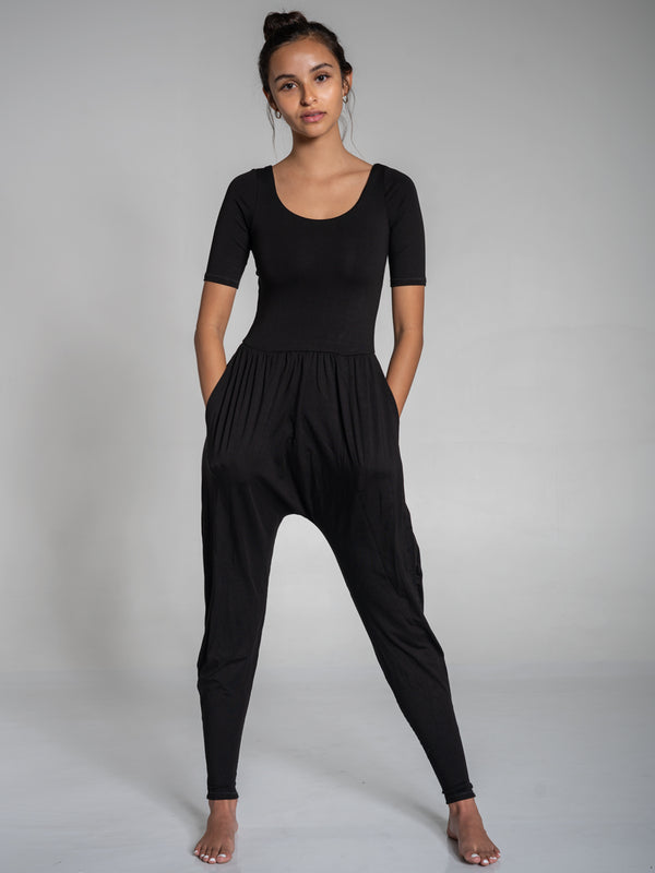 Sleeved Bōdhi Jumper, Midnight Black