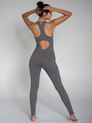 Astra Bodysuit, Herringbone Grey