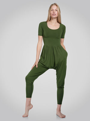 Sleeved Bōdhi Jumper, Chive Green