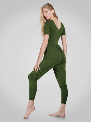 Sleeved Bōdhi Jumper, Chive Green - IMBŌDHI