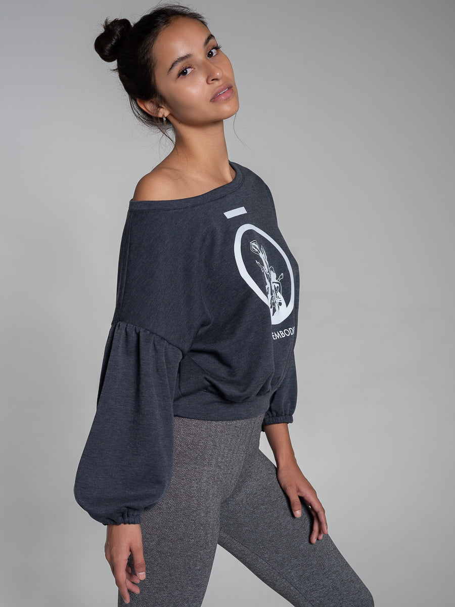 Giulia Balloon Sleeve Sweatshirt