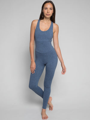 Astra Bodysuit, Heather Slate Blue - IMBŌDHI Bodysuits