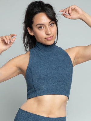 Cari Crop Top, Royal Blue - IMBŌDHI