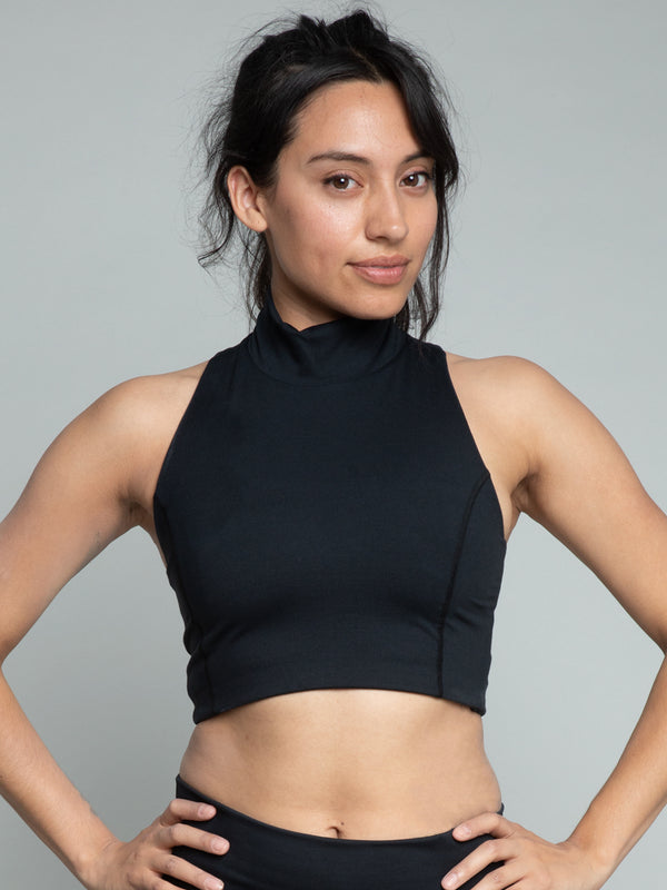 Cari Crop Top, Jet Black