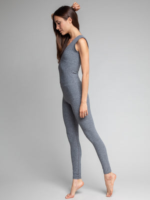 Tara Bodysuit, Heather Grey - IMBŌDHI Bodysuits
