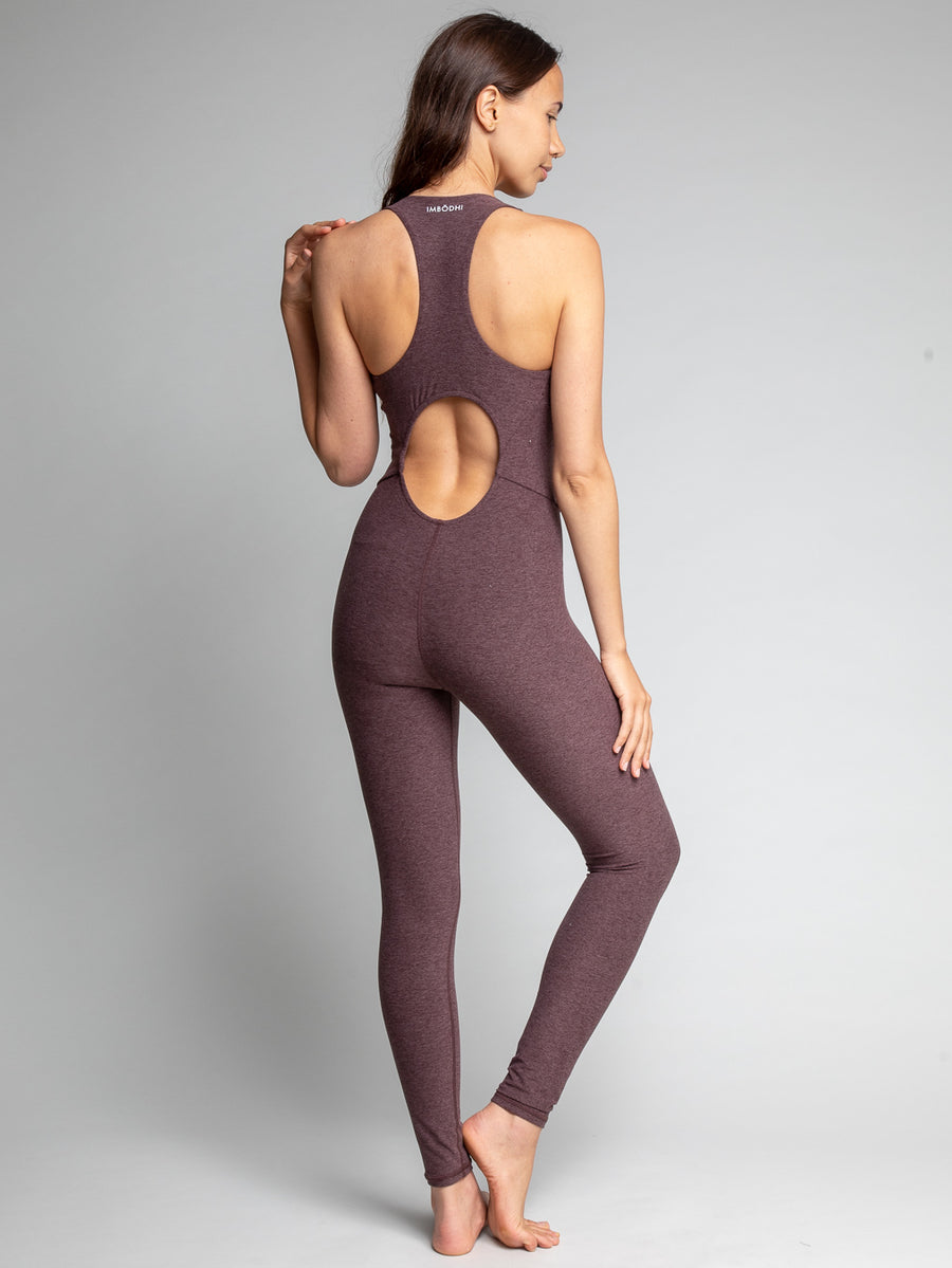 Astra Bodysuit, Heather Brown - IMBŌDHI Bodysuits
