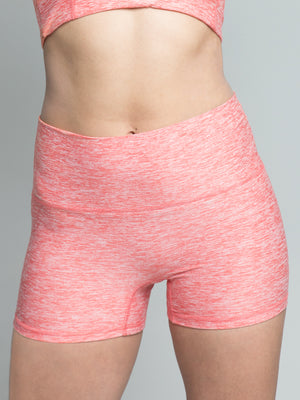 Imbooty Shorts, Heather Coral