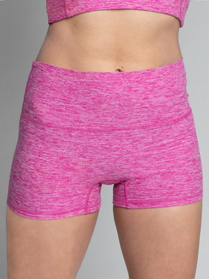Imbooty Shorts, Heather Fuchsia