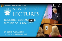 Lecture One - Manipulating Humans: A Challenge to Science and Faith