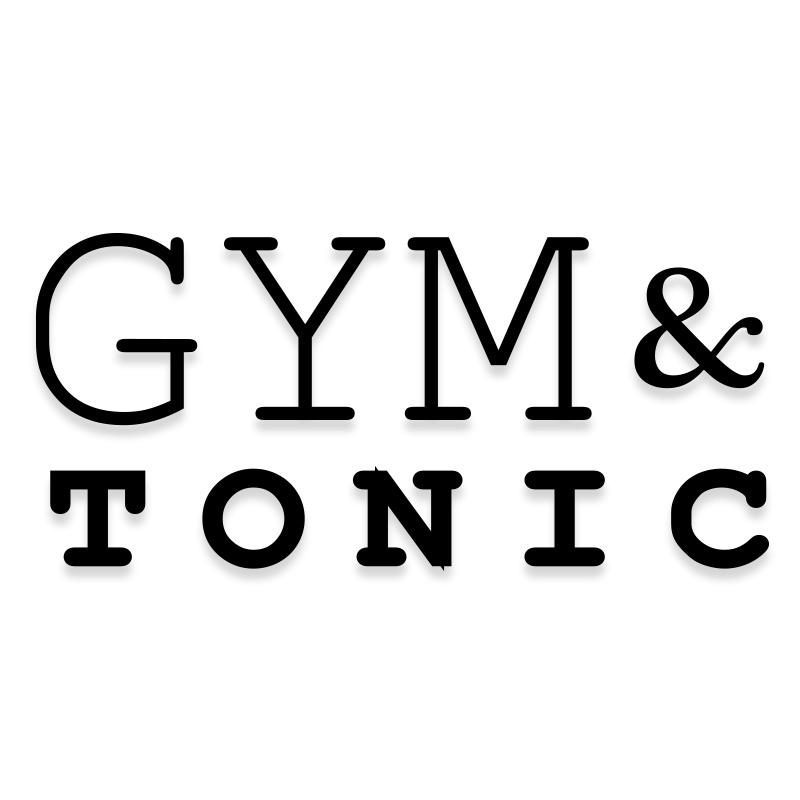 Gym and Tonic Funny Workout Decal Sticker