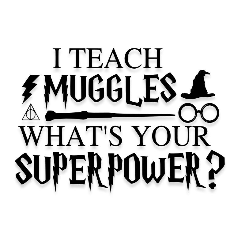 Harry Potter Teacher Muggles Decal Sticker