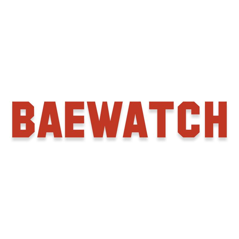 Baewatch Beach Lake Swimming Lifeguard Decal Sticker