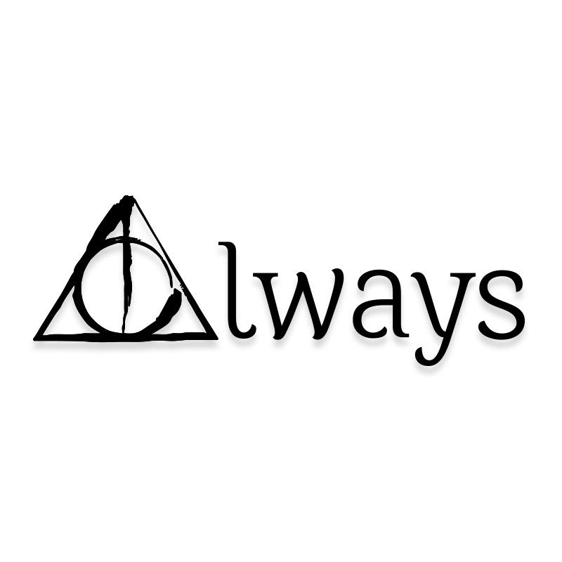 Harry Potter Always Triangle Decal Sticker