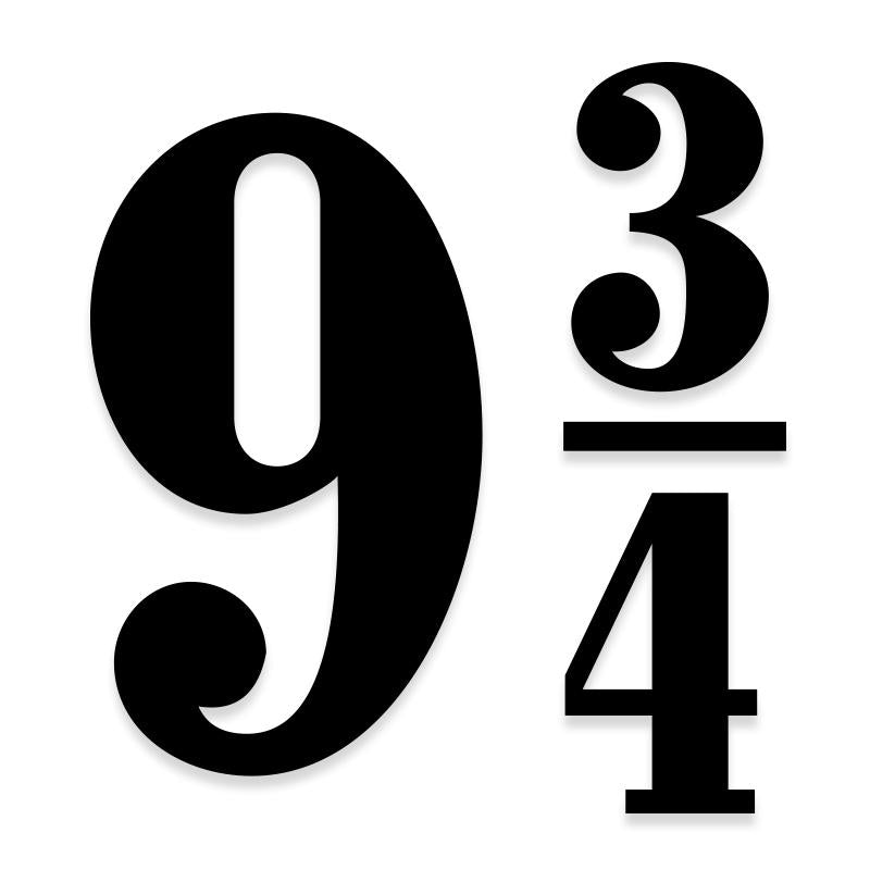 Harry Potter Nine Three Quarters 9 34 Decal Sticker