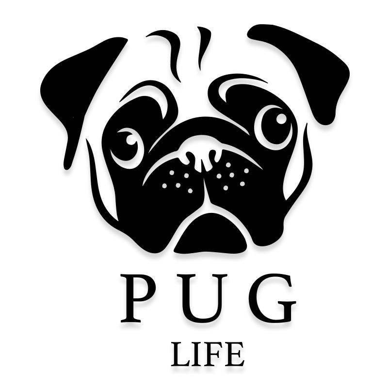 Pug Life Funny Dog Decal Sticker