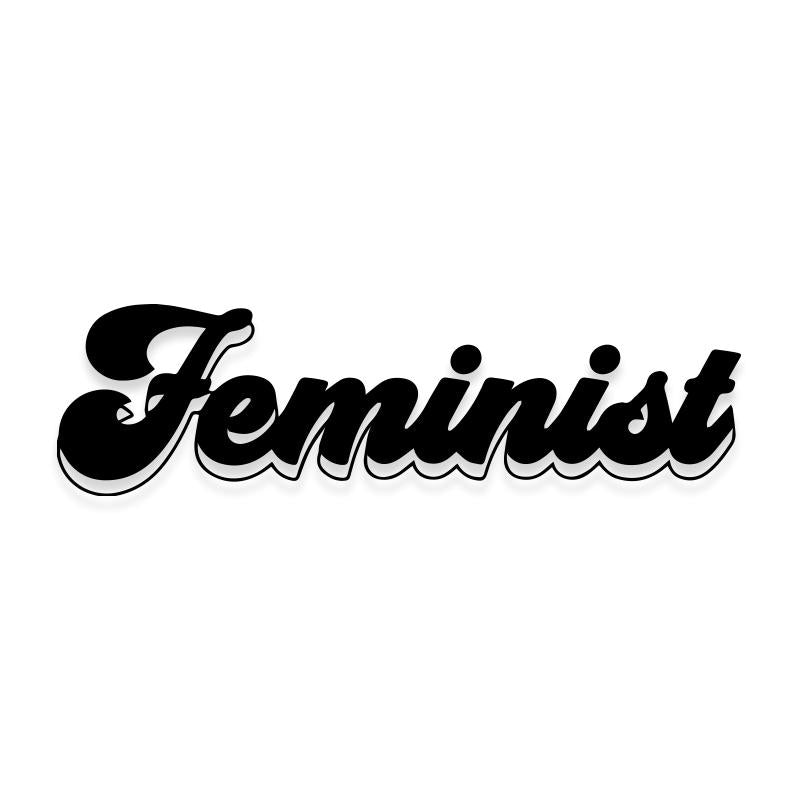 Feminist Retro Font Decal Sticker