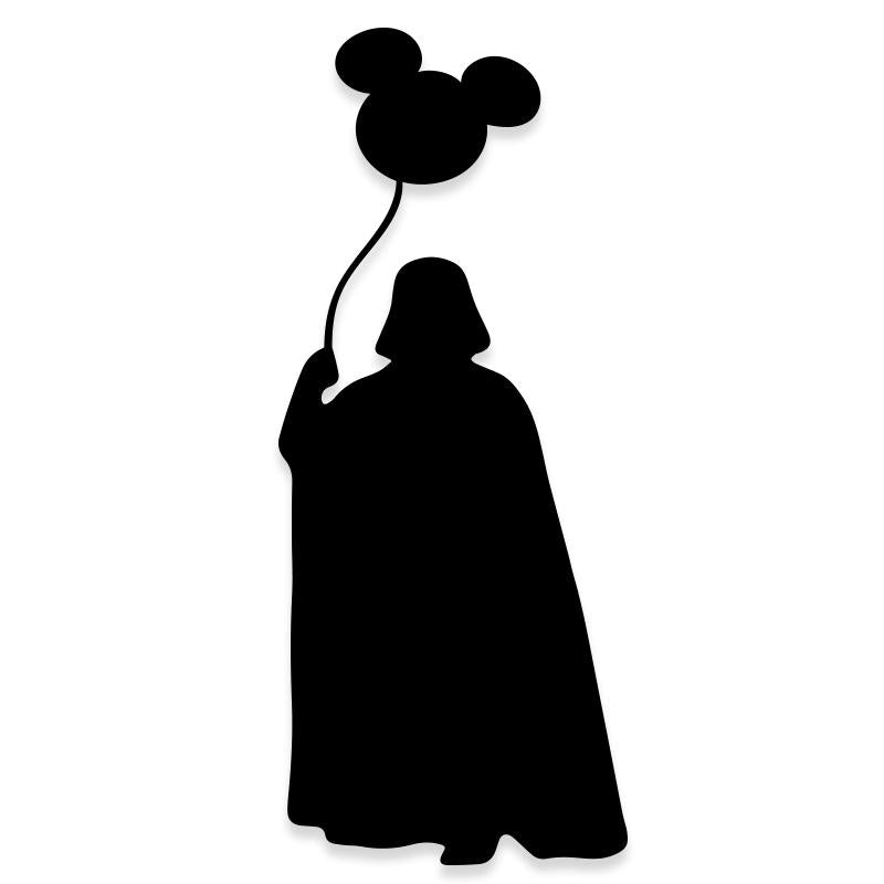 Star Wars Disneyland Darth Vader Mickey Mouse Decal