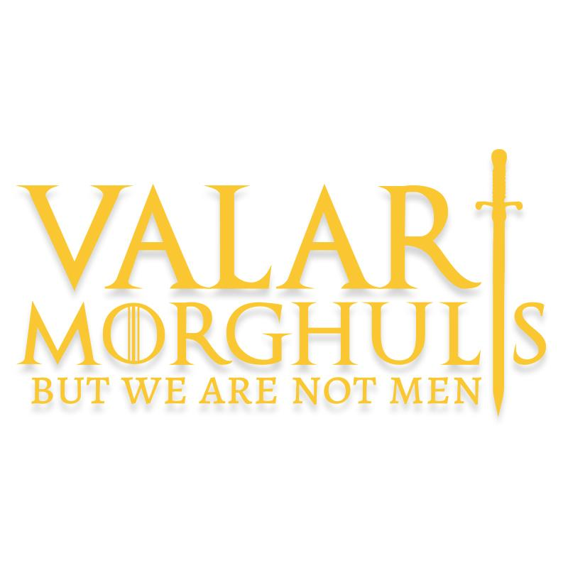Valar Morghulis Game of Thrones Decal
