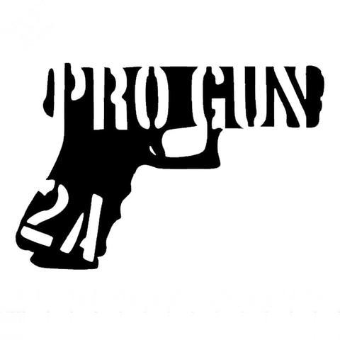 2nd Amendment Pistol Decal Sticker
