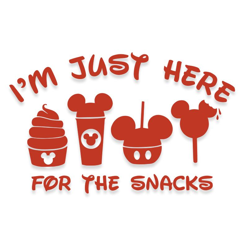 I'm Just Here for Snacks Disneyland Decal