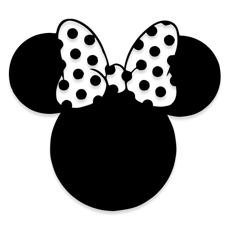 Minnie Mouse Ribbon Disney Vinyl Decal