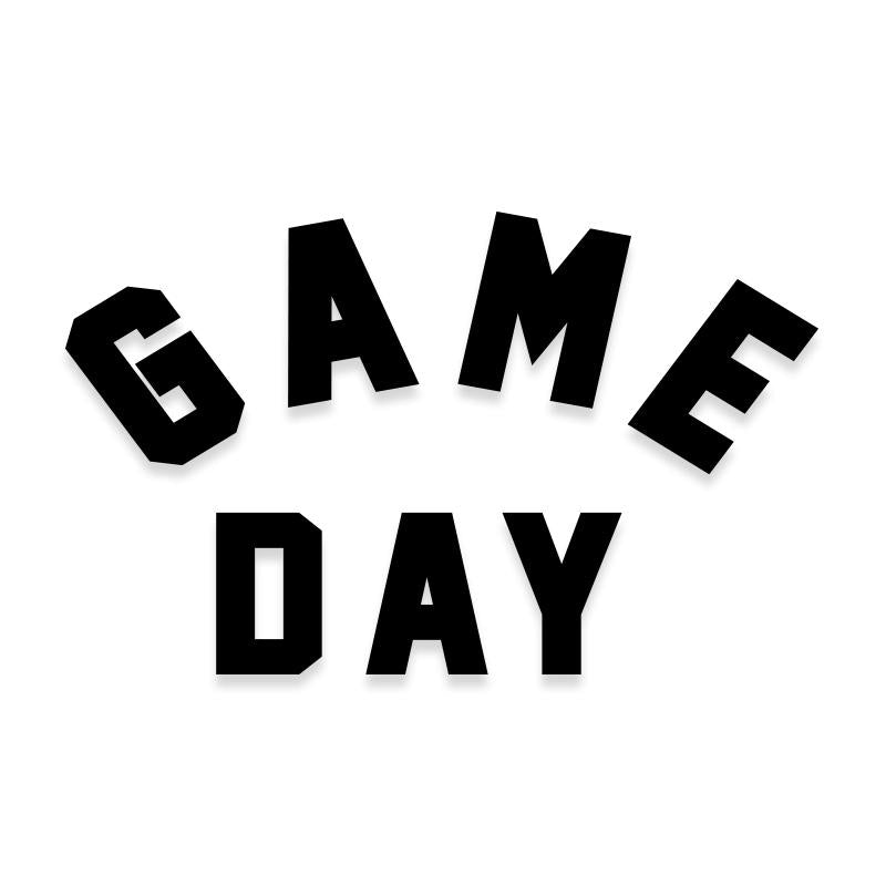 Game Day Football Sports Vinyl Decal
