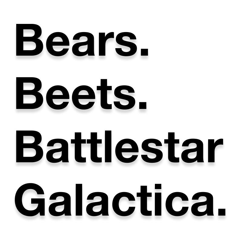 Bears, Beets, Battlestar, Galactica The Office Decal