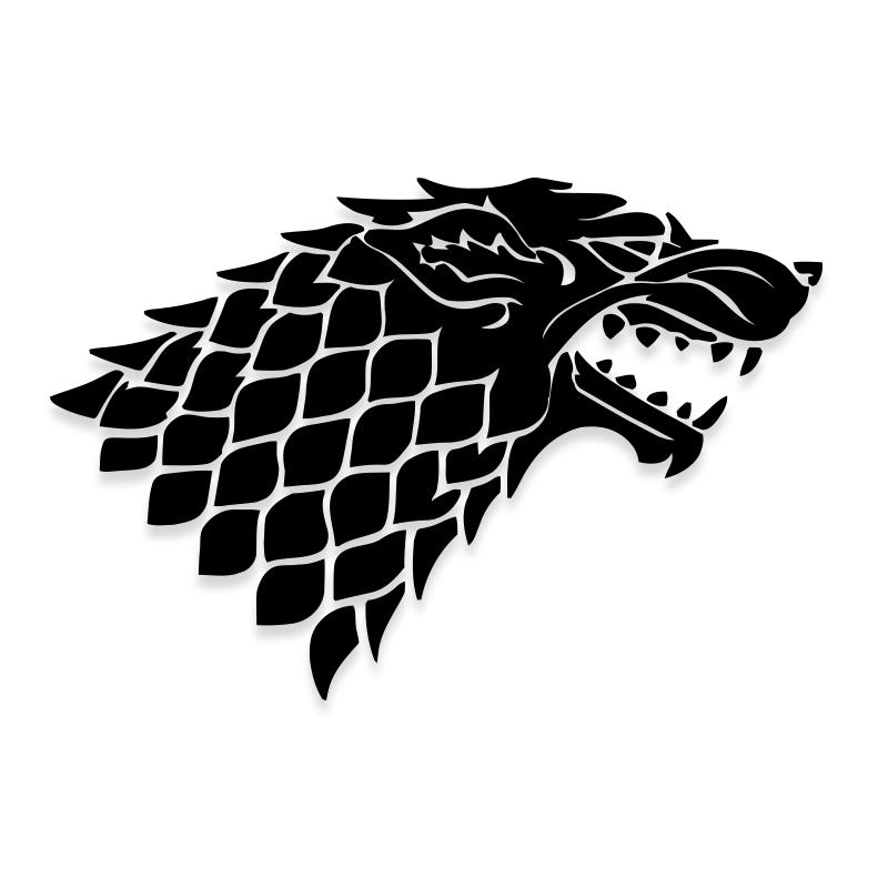 Game of Thrones Direwolf Stark Vinyl Decal