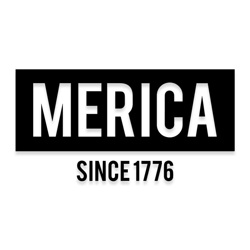 Merica 1776 America Independence Decal Sticker