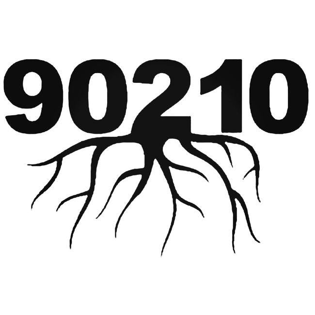 90210 Zip Code Roots Decal Sticker