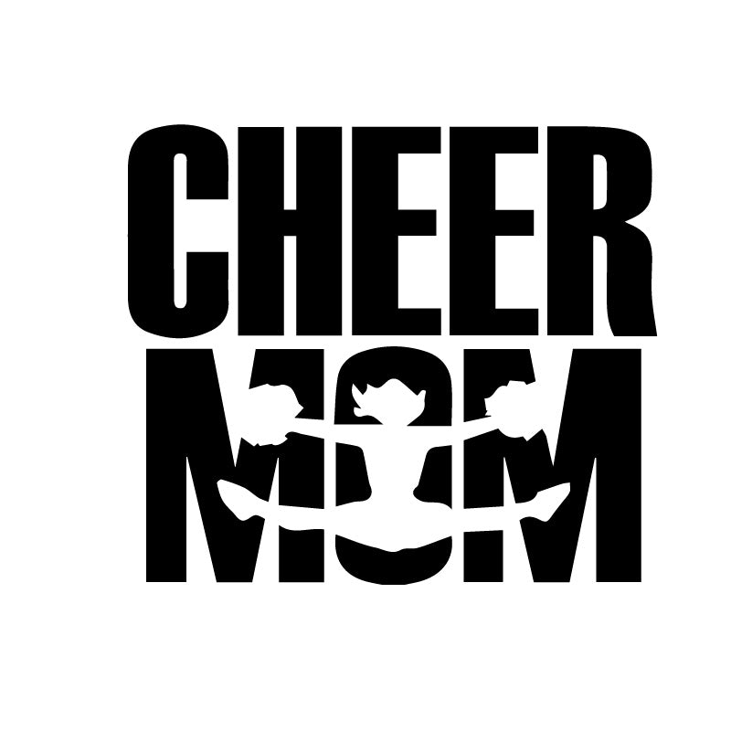 Cheer Mom Jump Decal Sticker