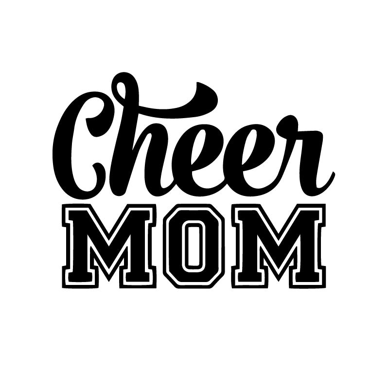 Cheer Mom Classic Text Decal Sticker