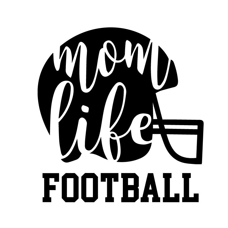 Mom Life Football Decal Sticker