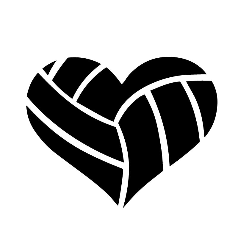 Volleyball Mom Heart Decal Sticker