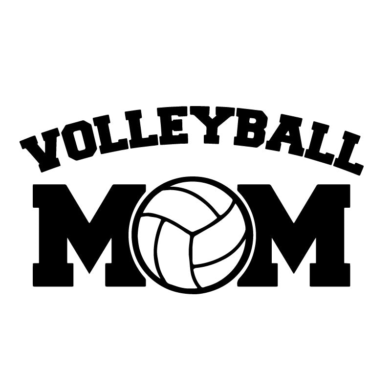 Volleyball Mom Logo Decal Sticker