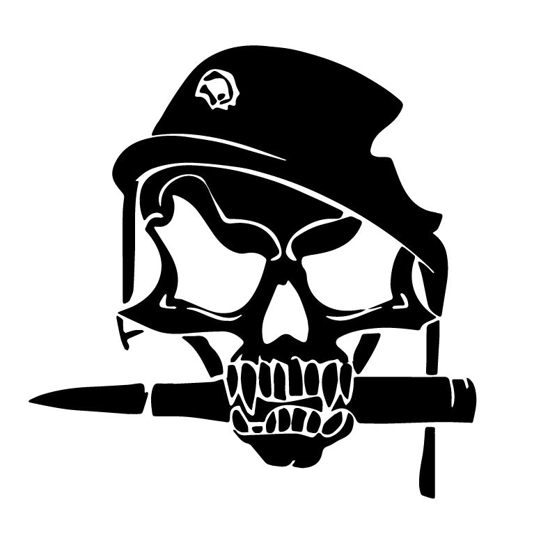 Army Soldier Skull Bullet Knife Decal Sticker