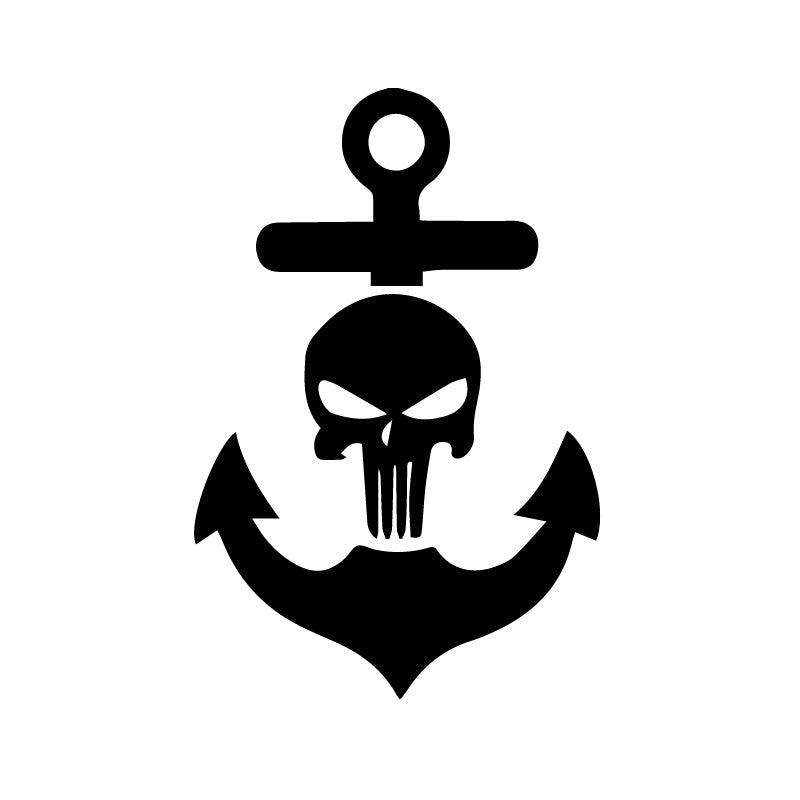 Navy Military Skull Decal Sticker