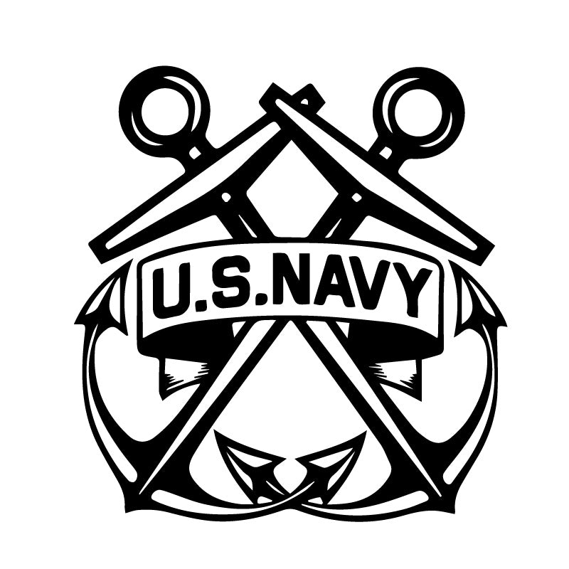 US Navy Anchors Decal Sticker
