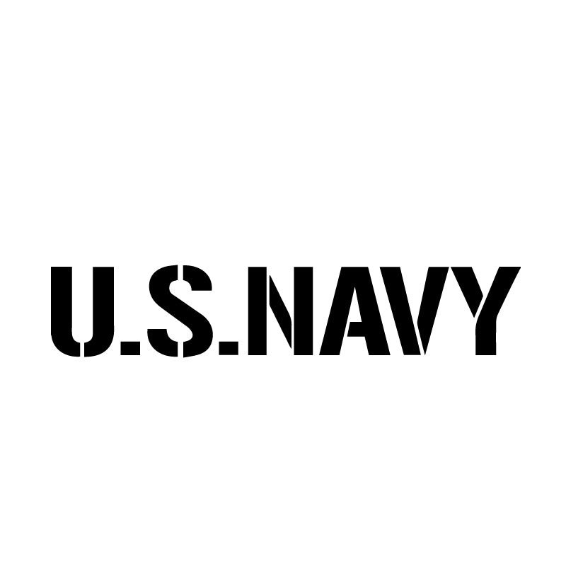 US Navy Military Text Decal Sticker