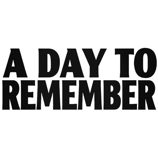 A Day To Remember Decal Sticker