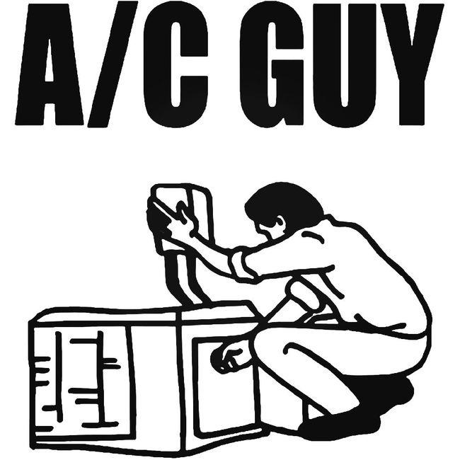 Air Condition Guy Decal Sticker