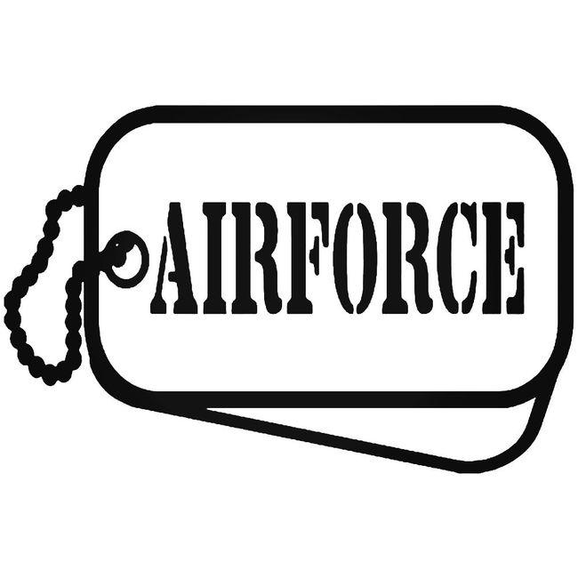 Air Force Military Tags Decal Sticker